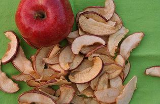 Яблоки сушеные. Калорийность, польза и вред