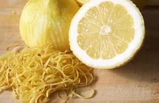 Цедра лимона. Калорийность, польза и вред
