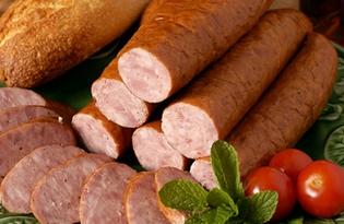 Колбаса варено-копченая. Калорийность, польза и вред.