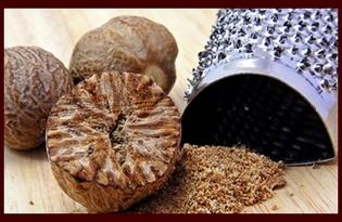 Мускатный орех. Калорийность, польза и вред.