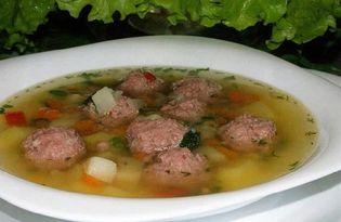 Фрикаделевый суп (пошаговый фото рецепт)