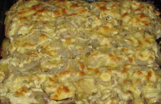 Мясо по-французски с картофелем (рецепт с пошаговыми фото)