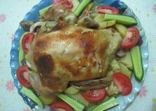 Курица с картофелем в пакете или рукаве для запекания