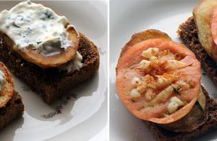 Бутерброды с жареными баклажанами (пошаговый фото рецепт)