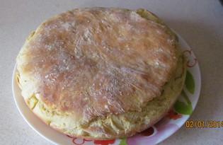 Пирог с рыбой и грибами