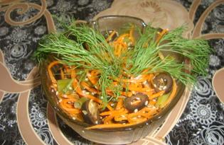 """Салат из корейской морковки и стручковой фасоли """"Вкуснятина"""""""