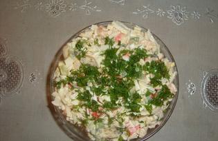 """Рецепт салата с морепродуктами """"Морской"""" с пошаговыми фото"""