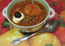 Рецепт солянки колбасной с пошаговым фото