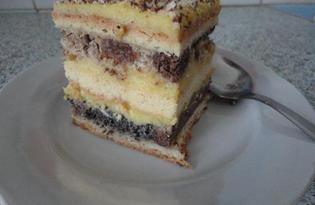 """Рецепт """"Торт плетёный"""" пошаговое фото"""