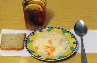 Рецепт рисовой «быстрокаша» с молоком и морковью и пошаговыми фото