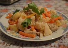 """Рецепт """"Овощи на пару со свининой"""" пошаговое фото"""