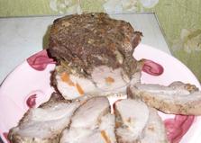 Буженина, шпигованная морковью и чесноком (пошаговый фото рецепт)