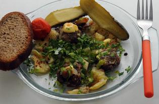 Холостяцкий ужин (пошаговый фото рецепт)