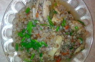Гречневая каша в мультиварке DELFA с курицей. Рецепт с пошаговым фото.