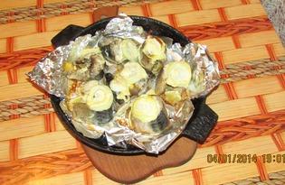 Запеченная в духовке скумбрия (рецепт с пошаговым фото)