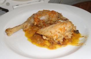 Курица в сливочно-имбирном соусе (пошаговый фото рецепт для мультиварки)