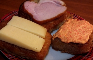 Горячие гренки-бутерброды (пошаговый фото рецепт)