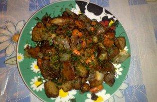 Жареные белые грибы с морковью и луком. Рецепт с пошаговым фото.