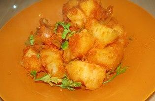 """Рецепт """"Картофель с луком и морковью"""" пошаговое фото"""