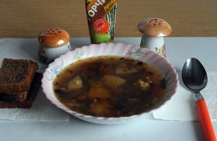 Рассольник с грибами вегетарианский. Рецепт с пошаговым фото