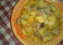 """Рецепт """"Тушеная картошка с мясом"""" пошаговое фото мультиварка Brand 502"""
