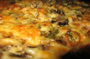 Пицца со свежими шампиньонами (пошаговый фото рецепт)