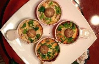 Жульен с курицей и консервированными шампиньонами (Рецепт с пошаговыми фото)
