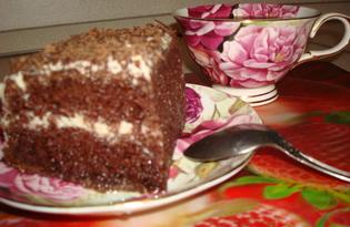 Торт шоколадный (рецепт с пошаговыми фото)