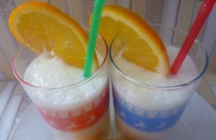 """Рецепт """"Апельсиновый молочный коктейль"""" пошаговое фото"""