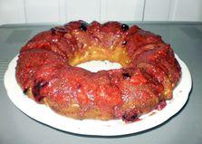 Творожный кекс в ягодном сиропе (рецепт с пошаговым фото)