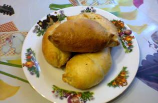 Духовые пирожки с мясом и тушеной капустой (рецепт с пошаговым фото)