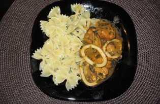 Морепродукты тушенные (рецепт с пошаговым фото)