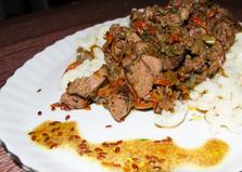 Паста с печёночным соусом и семенами льна (пошаговый фото рецепт)