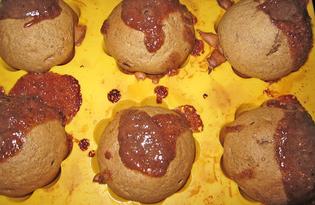 Маффины с шоколадным кремом (пошаговый фото рецепт)