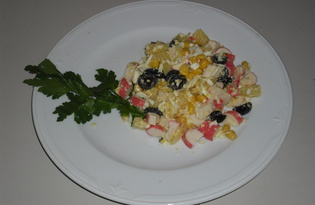 Крабовый салат (рецепт с пошаговым фото)