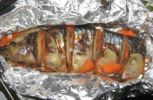 Скумбрия с луком и морковью (пошаговый фото рецепт)