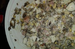 Салат с грибами (рецепт с пошаговыми фото)