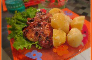 Курица с чесноком и грецкими орехами (рецепт с пошаговыми фото)