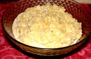 Ананасовый салат с чесноком (рецепт с пошаговыми фото)