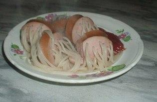 Спагетти в сосисках (рецепт с пошаговыми фото)