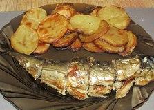 """Рецепт """"Запеченная скумбрия с картофелем"""" пошаговое фото"""