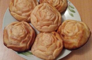 Кексы Розочки с добавлением киселя (пошаговый фото рецепт)