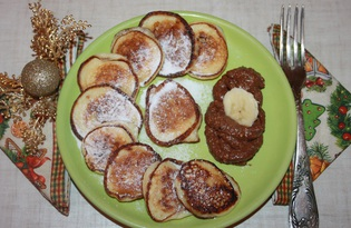 Оладьи с бананом, корицей и шоколадом (рецепт с пошаговыми фото)