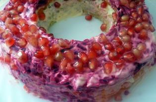 Гранатовый браслет» с тунцом (пошаговый фото рецепт)