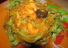 Паста со шпинатом в томатном соусе (рецепт с пошаговым фото)