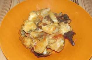 Тушеная рыба хек с грибами (рецепт с пошаговыми фото)