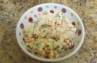 Легкий крабовый салат (рецепт с пошаговыми фото)