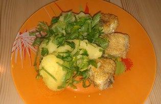 Жареная рыба в кукурузной муке (рецепт с пошаговыми фото)