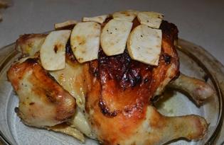 Курица фаршированная яблоками (рецепт с пошаговыми фото)