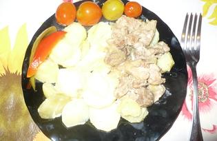 Картофель с мясом под майонезом (рецепт с пошаговыми фото)